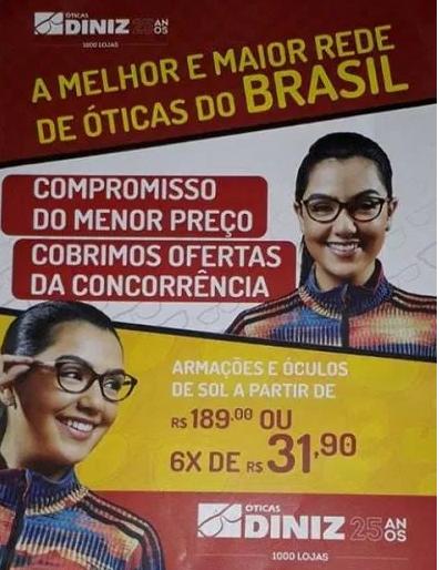ÓTICAS DINIZ JOÃO CÂMARA RN – As ÓTICA DINIZ em João Câmara RN, vai  realizar o seu sonho neste Natal. Compre qualquer produto na maior rede de  óticas do ... 758f494a25