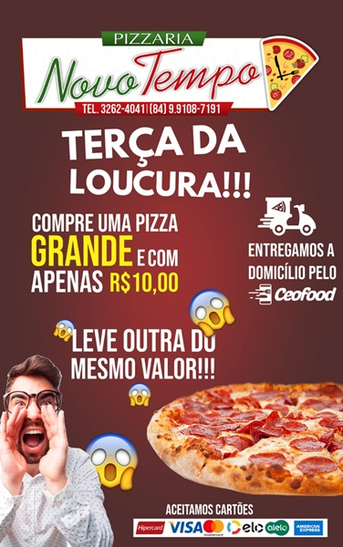 TERÇA DA LOUCURA!Compre uma Pizza GRANDE e com apenas R$ 10,00 ...
